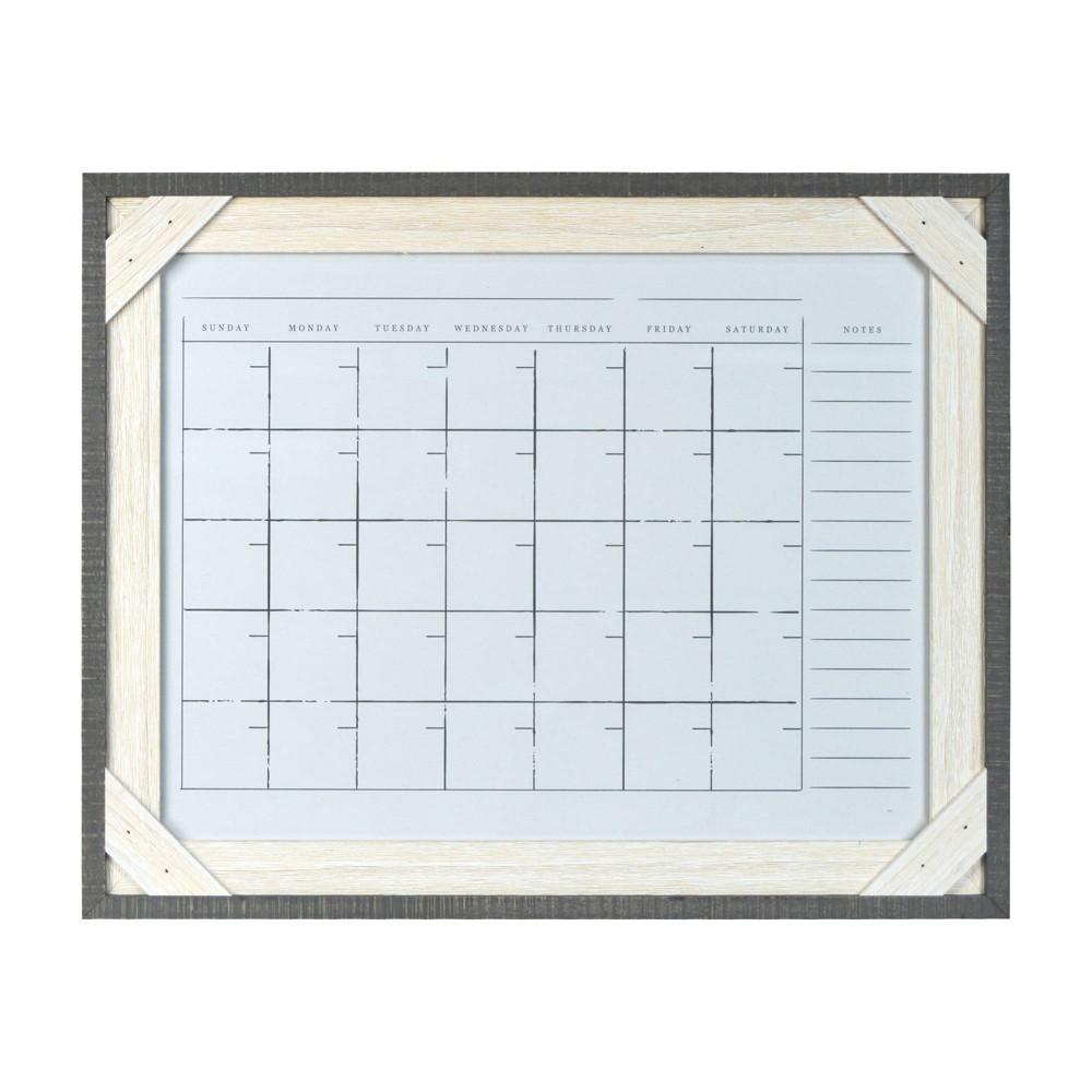 "Image of ""16"""" x 20"""" Reclaimed Crosshatch Wood Frame Calendar - Prinz"""