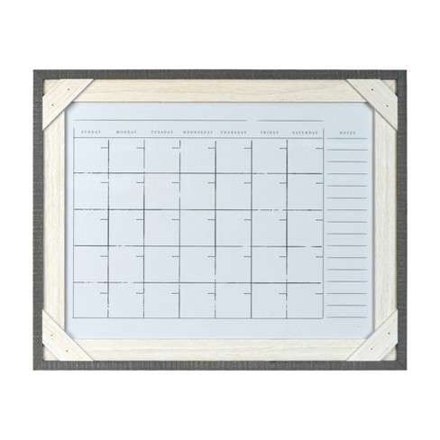 16 X 20 Framed Reclaimed Crosshatch Dry Erase Wall Calendar Gray White Prinz Target
