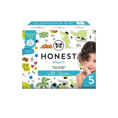 The Honest Company Good Vibes & L8ter Gator Disposable Diapers - Size 5 - 50ct