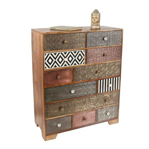 100% authentic f8073 120bd Havana Multi Drawer Sideboard Mango Wood with Bone and Iron Inlays - Steve  Silver