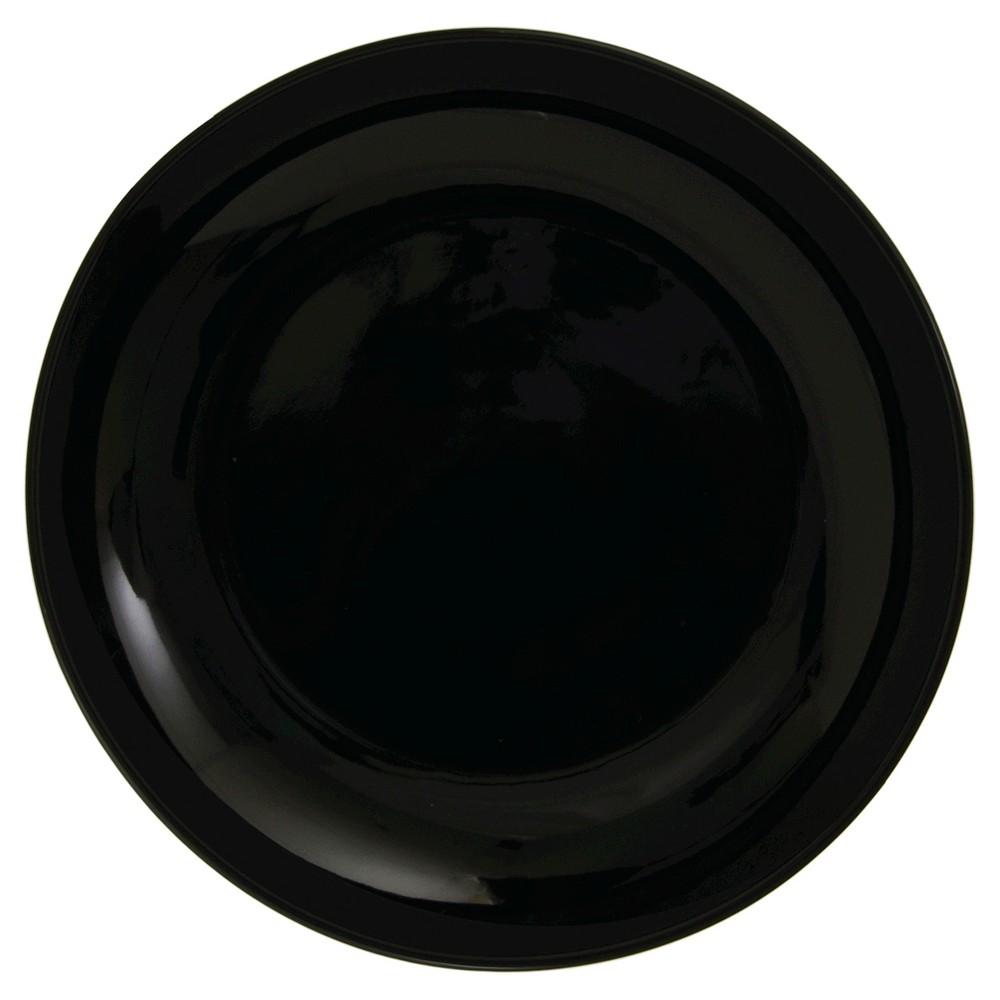 "Image of ""Salad/Dessert Plate Black Coupe 7.63""""x7.63"""" Set of 4 - 10 Strawberry Street"""