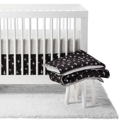 Babyletto Crib Bedding Set - Tuxedo Monochrome - 5pc
