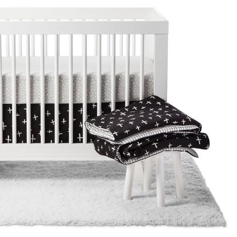 Babyletto Crib Bedding Set - Tuxedo Monochrome - 5pc - image 1 of 4