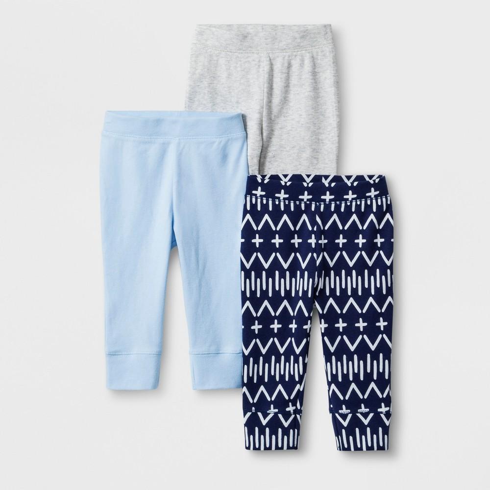 Cloud Island Baby Boy 3-Pack Certified Oeko-Tex White//Black Pants Size 6-9M