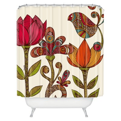 In The Garden Shower Curtain Ivory - Deny Designs
