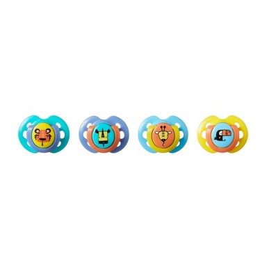 Tommee Tippee Closer To Nature Fun Style Baby Pacifier - 4pk 0-6M