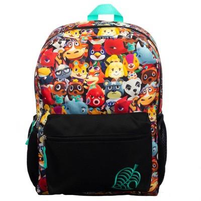 """Nintendo Animal Crossing Print 16"""" Kids' Backpack - Black"""