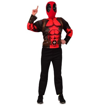 Imagine Deluxe Deadpool Mask and Costume Top Set � Kids Costume