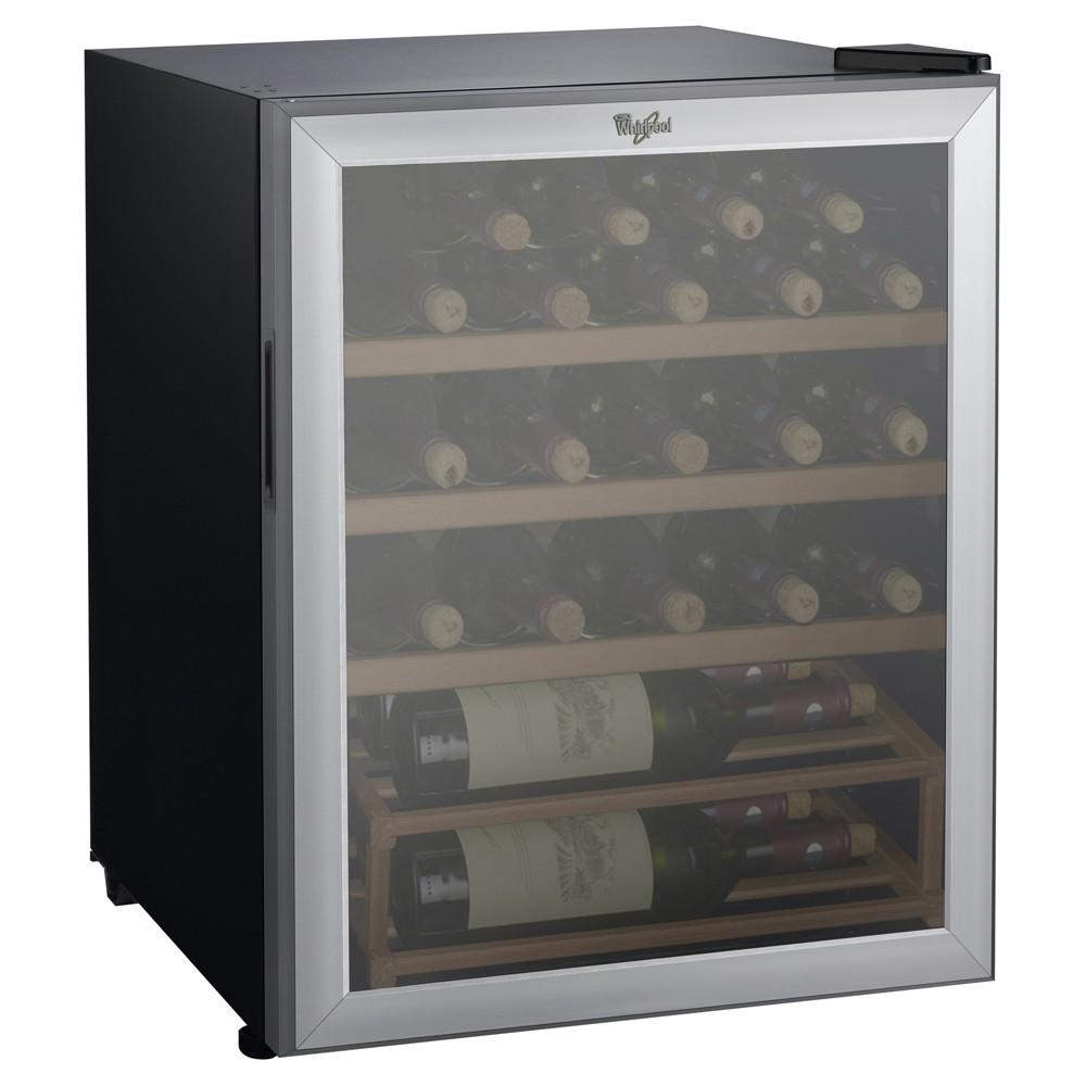 Whirlpool 25 Bottle 2.7 cu ft Wine Fridge – Stainless Steel JC-75Z, Black 51222782