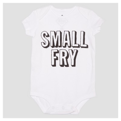 Baby Small Fry Short Sleeve Bodysuit - White 6M