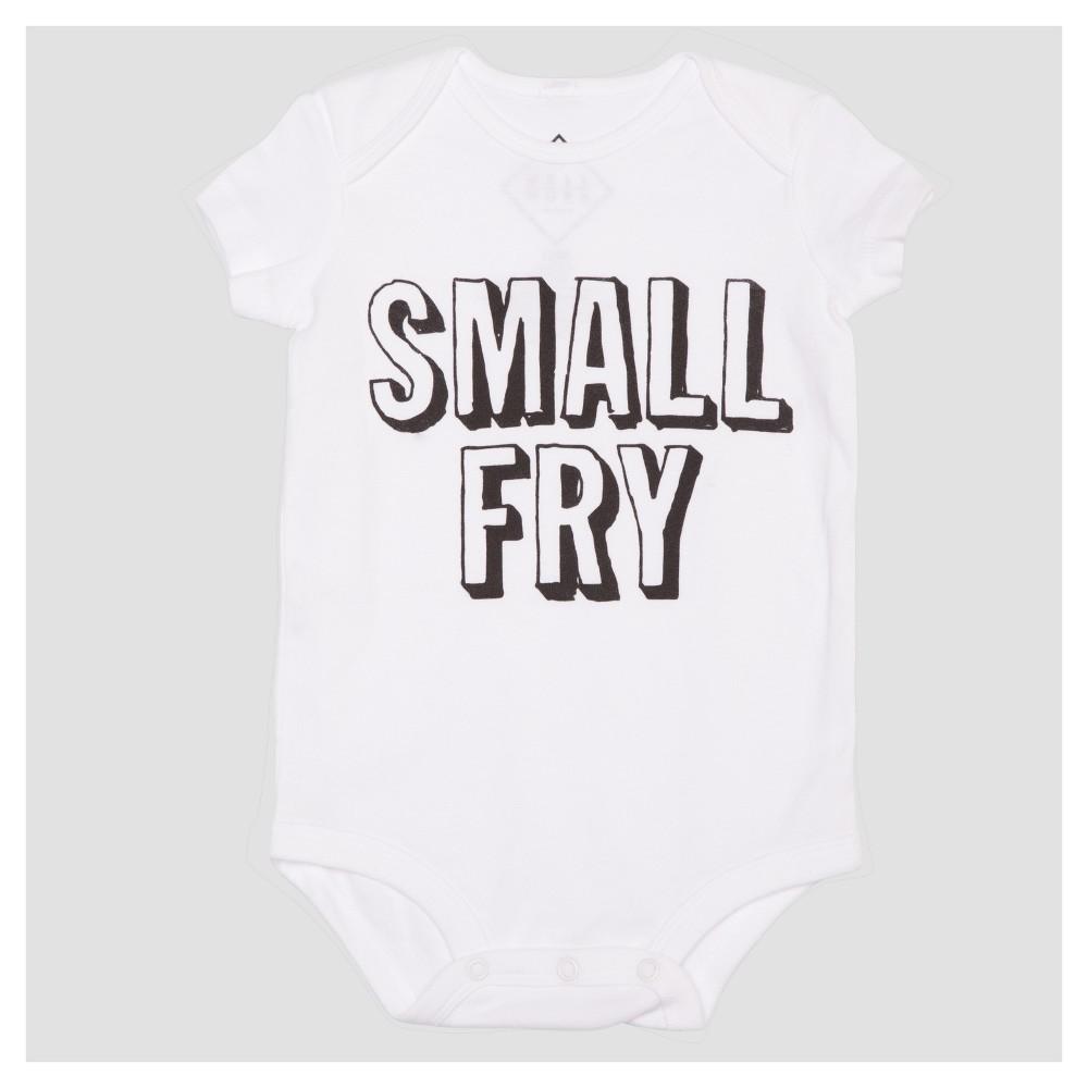 Baby Small Fry Short Sleeve Bodysuit - White 9M, Infant Unisex, Size: 6-9M