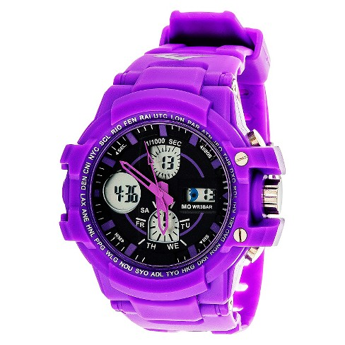Everlast® Analog and Digital Watch Purple - image 1 of 1