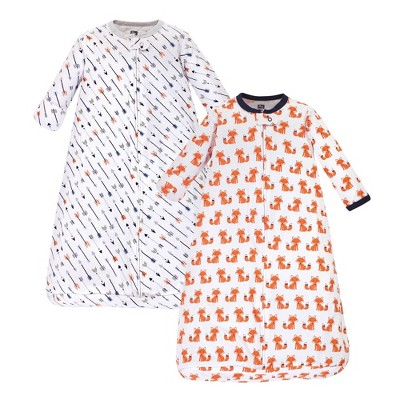 Hudson Baby Unisex Baby Cotton Long Sleeve Wearable Sleeping Bag Sack Blanket - Foxes 3-9M