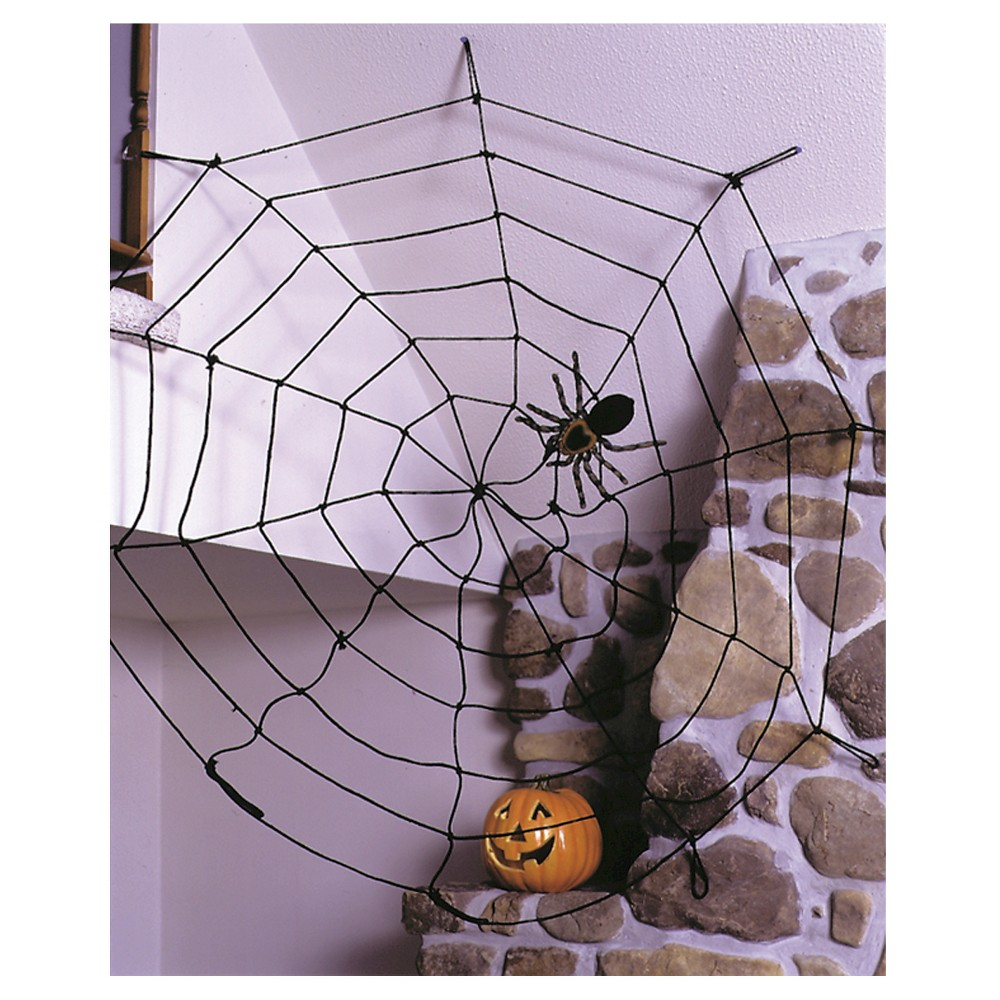 Image of Halloween Black Spider Web 9ft