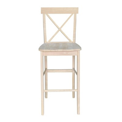 X Back Counter Height Barstool Unfinished - International Concepts