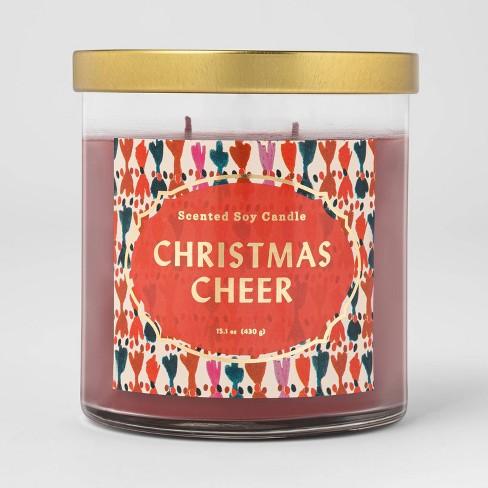 15.1oz Lidded Glass Jar Candle Christmas Cheer - Opalhouse™ - image 1 of 2