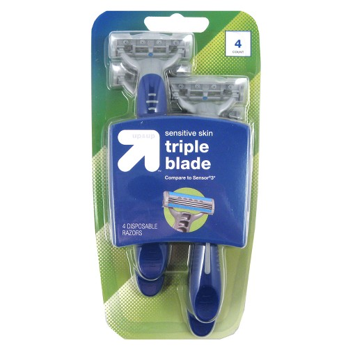 Men's 3 Blade Disposable Razors - 4ct - Up&Up (Compare to Sensor3)
