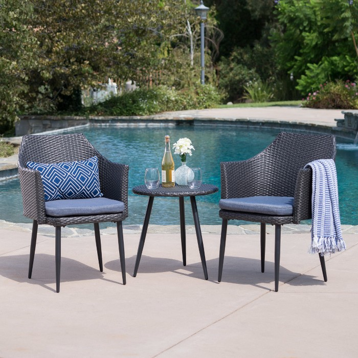 Iona 3pc Wicker Chat Set - Christopher Knight Home - image 1 of 4