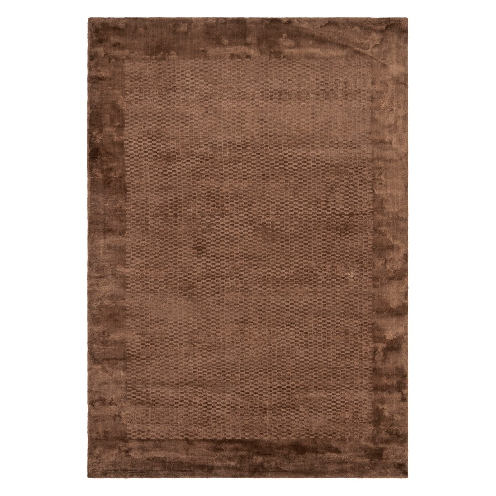 6'X9' Solid Area Rug Brown - Safavieh