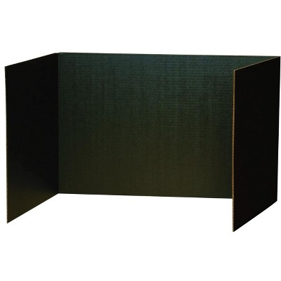 Pacon Recycled Privacy Board, 48 x 16 Inches, Black, pk of 4