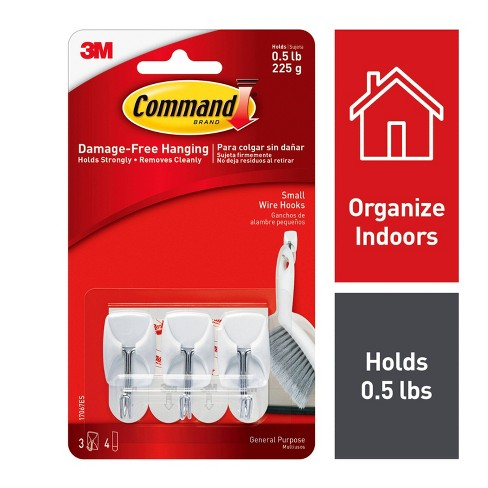Command  Small Sized Wire Decorative Hooks White - image 1 of 1