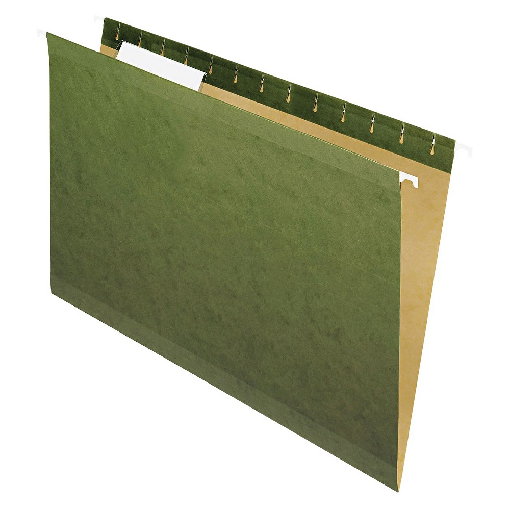 Pendaflex Reinforced Hanging File Folders with 1/3 Tab Legal 25ct Green