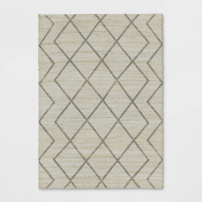 5'x7' Kagen Printed Woven Tribal Rug Ivory - Project 62™