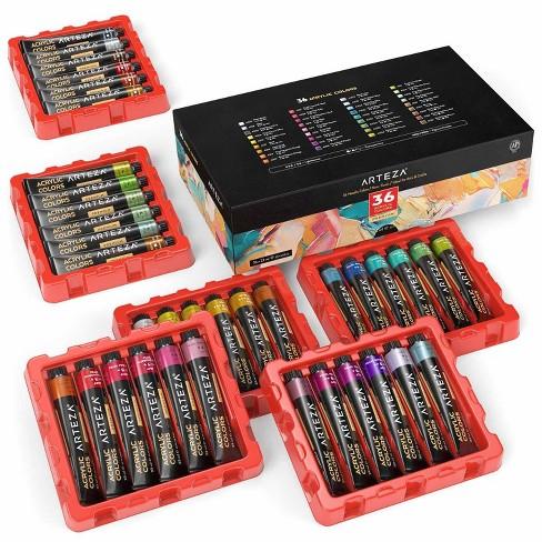 Arteza Premium Metallic Acrylic Artist Paint Set, 22ml Tubes, Assorted Colors - 36 Pack (ARTZ-8558) - image 1 of 4