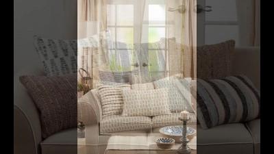Down Filled Crochet Pompom Pillow - Saro Lifestyle : Target