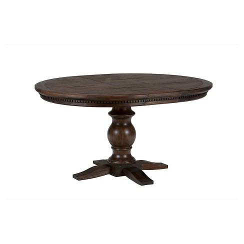 Geneva Hills Round To Oval Dining Table Wood Rustic Brown Jofran Inc Target
