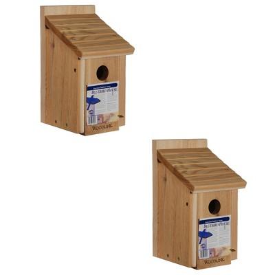 Woodlink 24301 BB1 Outdoor Wooden All Natural Inland Red Cedar Wood Bluebird Song Bird House Box (2 Pack)