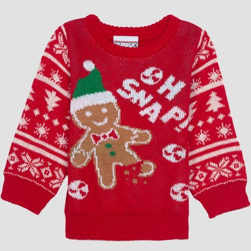 d0e26b8597f1 Well Worn Baby Boys  Ugly Holiday Sweater - Red   Target