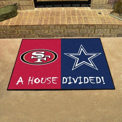 a8e93782a NFL Dallas Cowboys San Francisco 49ers House Divided Rug 33.75