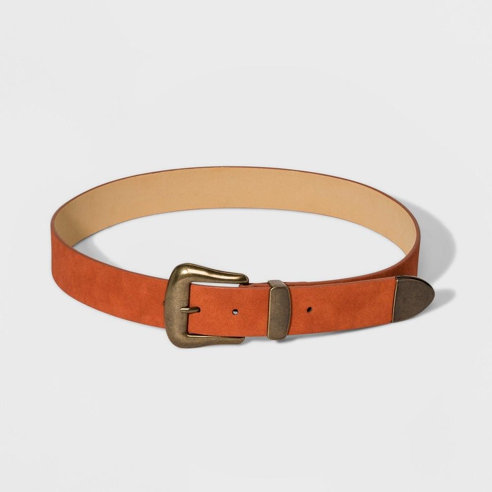 Women's Western Belt - Universal Thread Rust M, Red