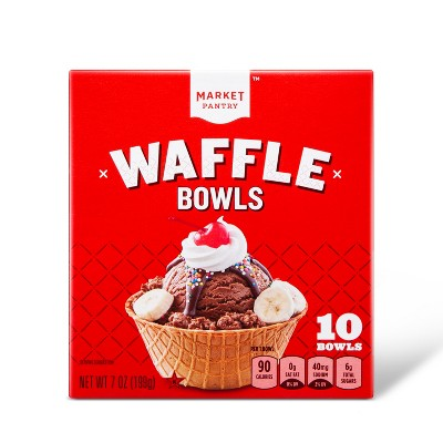 Ice Cream Cones & Toppings: Market Pantry Waffle Bowls