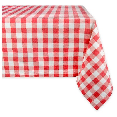 120 x60  Checkers Tablecloth Red - Design Imports