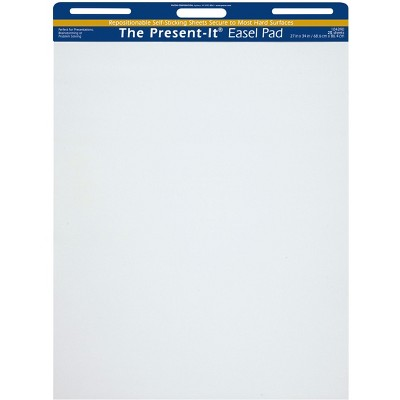 Present-It Recyclable Self-Stick Easel Pad, 27 x 34 Inches, 25 Sheets