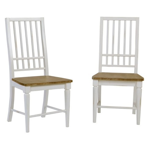 Shutters Dining Chair (set of 2) Light Oak/Distressed White - Progressive Furniture - image 1 of 2