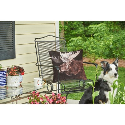 "C&F Home 18"" X 18"" Moose Rustic Lodge Indoor/Outdoor Decorative Throw Pillow : Target"