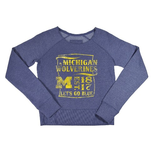 NCAA Michigan Wolverines Girls  Sweatshirt- Navy (XS)   Target 4149c9d80