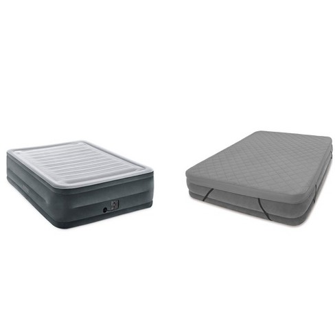 Intex Comfort Plush High Rise Airbed Mattress Queen Fitted