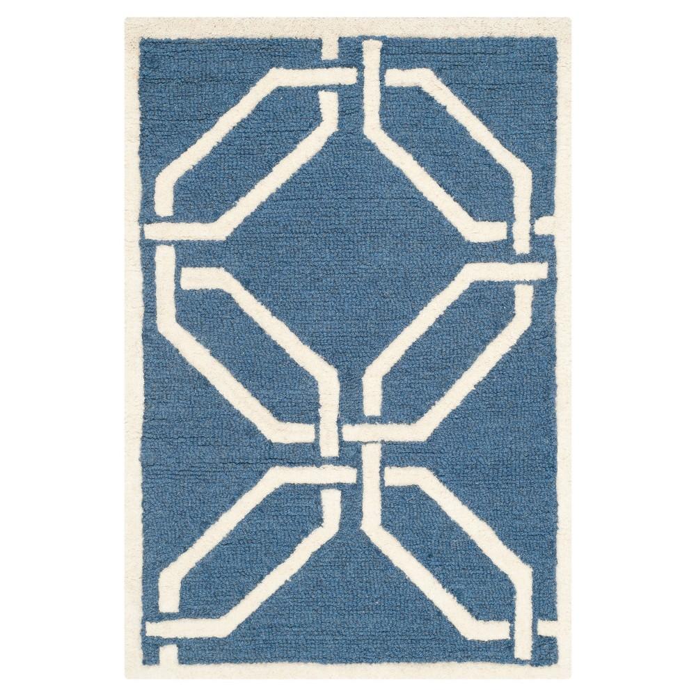 Bellina Textured Accent Rug - Navy / Ivory (2' X 3') - Safavieh, Blue/Ivory