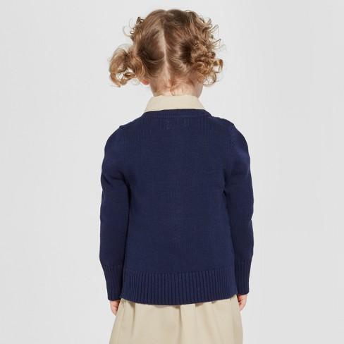 3ffd34dc7d6 Toddler Girls' Crew Neck Cable Knit Uniform Cardigan - Cat & Jack™
