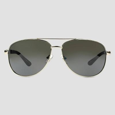 Men's Aviator Driving Sunglasses - Foster Grant Silver