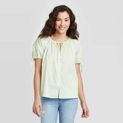 Women's Short Sleeve Button-Front Top - Universal Thread™