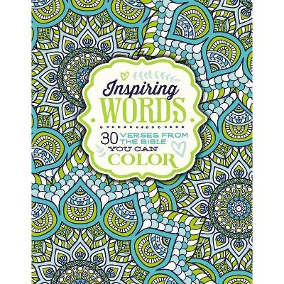 Inspiring Words Adult Coloring Book: 30 Verses from the Bible You Can Color by Zondervan Publishing House (Paperback)