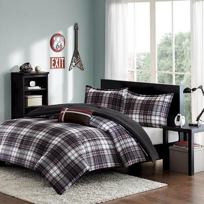Shawn 4 Piece Comforter Set - Black (Full/Queen)