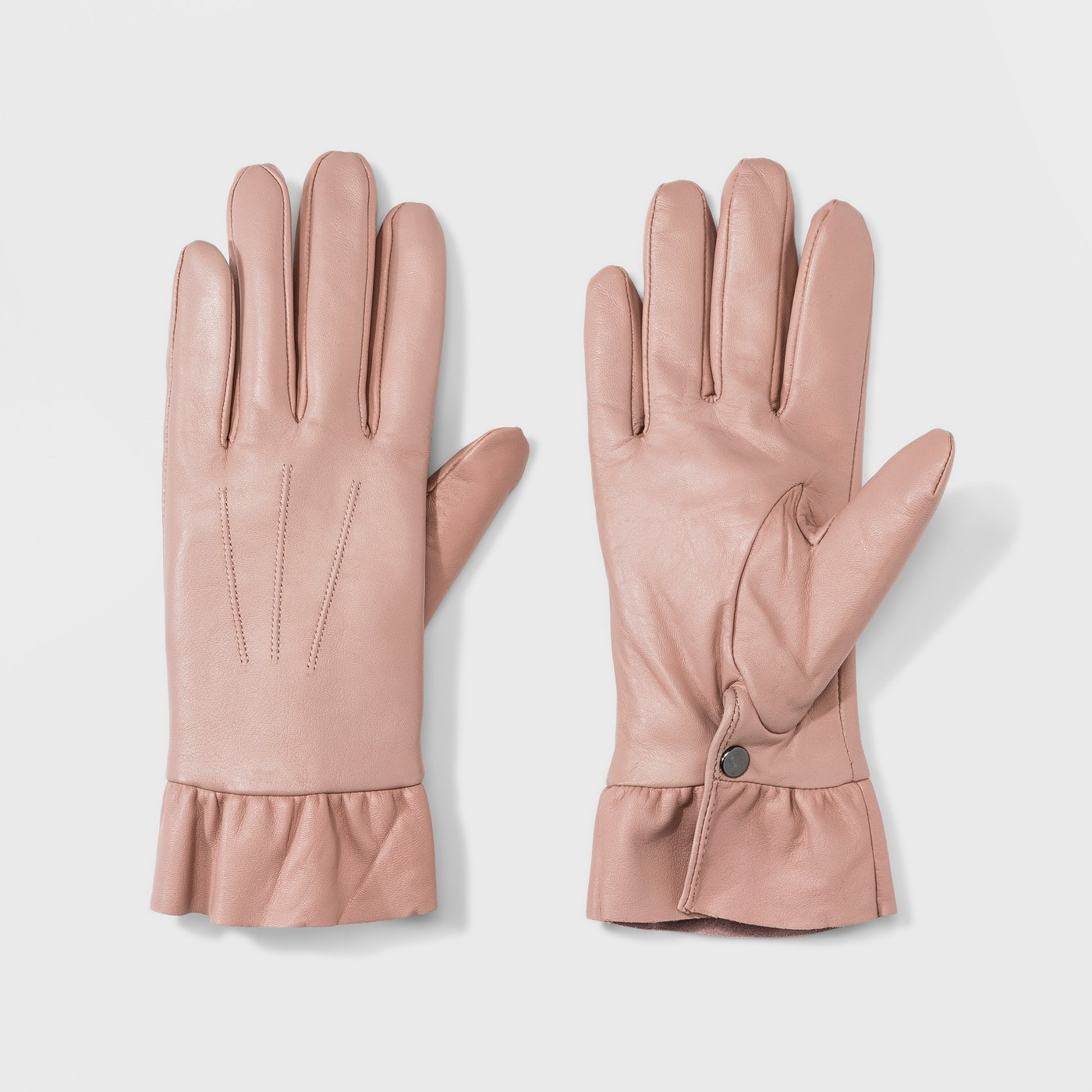Women's Leather Ruffle Wrist Gloves - A New Day™ - image 1 of 1