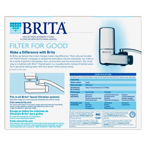 Brita On Tap Faucet Water Filter System Replacement Filters 2 Ct