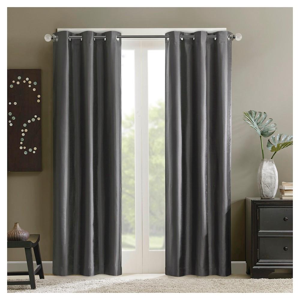 Ian Grommet Top Energy Saving Curtain Panel - Gray (42x84)